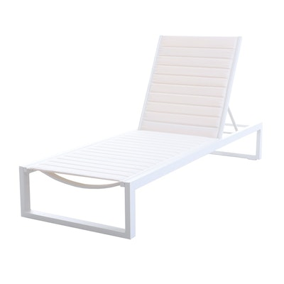 "Matthew Hilton ""Eos"" for Case Chaise Lounge in White"