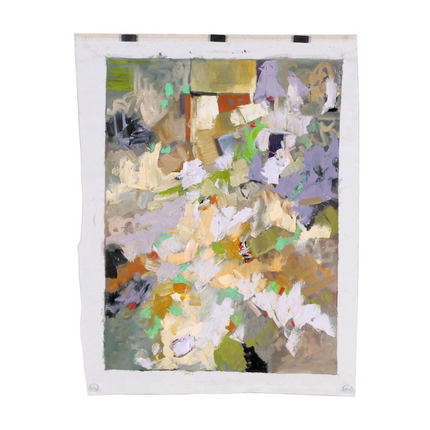 Sally Rosenbaum Abstract Oil Painting
