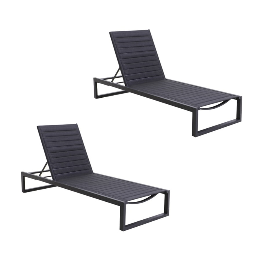 "Matthew Hilton ""Eos"" for Case Chaise Lounges in Black"