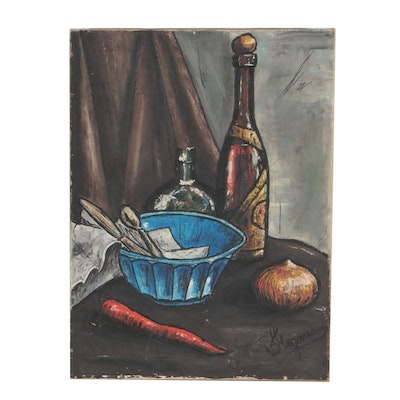 Modernist Still Life Oil Painting