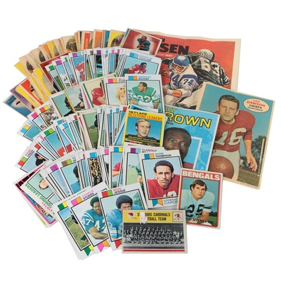 1950s, 1960s, and 1970s Topps Football Cards with Hall of Fame Players