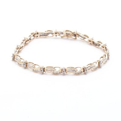 10K Yellow Gold 2.05 CTW Diamond Bracelet
