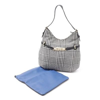 Talbots Houndstooth Hobo Bag and Brighton Two-Tone Pebbled Leather Folded Clutch