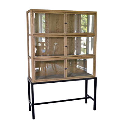 Transitional Stand Mounted Display Cabinet