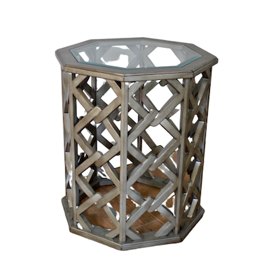 Hooker Furniture Octagonal Wood Openwork End Table