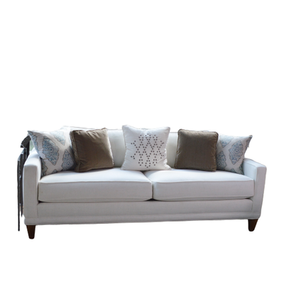 Rowe Furniture Transitional White Upholstered Sofa