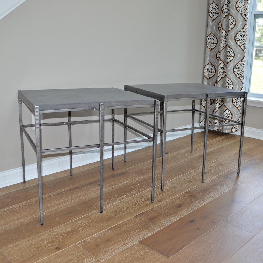 Pair of Riverside Furniture Metal End Tables, Contemporary