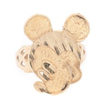 10K Yellow Gold Mickey Mouse Motif Ring