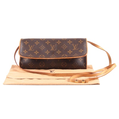 Louis Vuitton Paris Monogram Canvas and Leather Twin GM Pochette