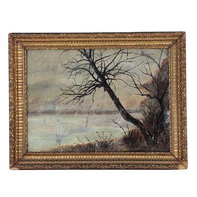 Harriett Dalquist Oil Painting of Coastal Landscape