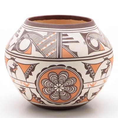 Carlos Laate Zuni Pueblo Pottery Vase, 1995