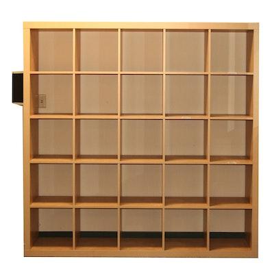 Modern Storage Cubicals in Maple Wood Finish