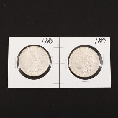 1883 and 1884 Silver Morgan Dollars