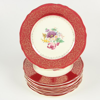 Steubenville Ceramic Dinner Plates, Early/Mid 20th Century