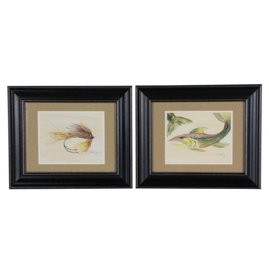 Michael Smith Fishing Offset Lithographs