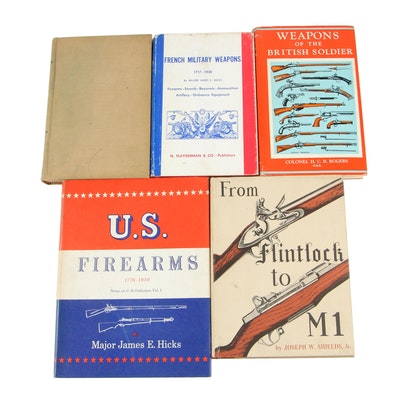 "Books on Firearms including ""French Military Weapons"" by James E. Hicks, 1964"