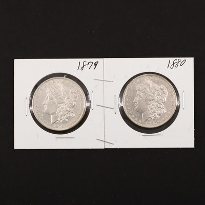 1879 and 1880 Silver Morgan Dollars