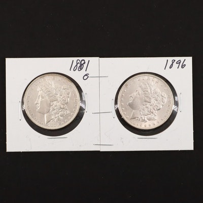 1881-O and 1896 Silver Morgan Dollars