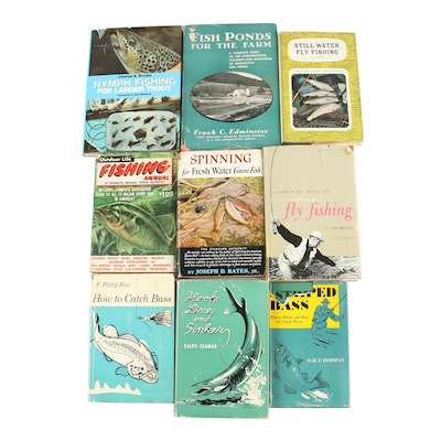 "Fishing Books featuring First Edition ""Hook, Line and Sinker"" by Ralph Seaman"