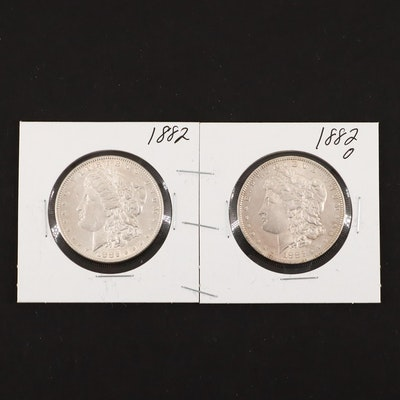 1882 and 1882-O Silver Morgan Dollars