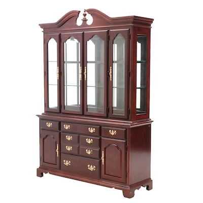 Federal Style American Drew 2-Piece Cherry China Cabinet, Contemporary