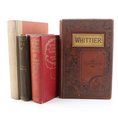 Poetry and Short Story Books including John Greenleaf Whittier