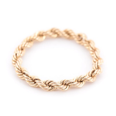 14K Yellow Gold Rope Ring