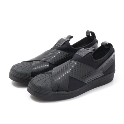 Adidas Superstar Black Slip-On Shoes