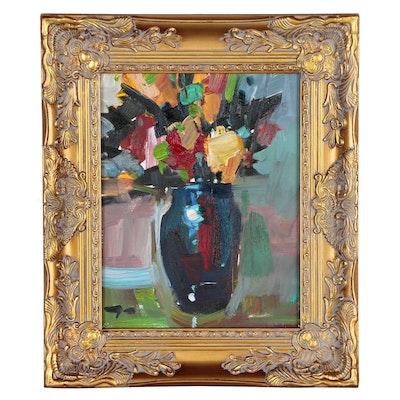 "Jose Trujillo Oil Painting ""Yellow Brightness"""
