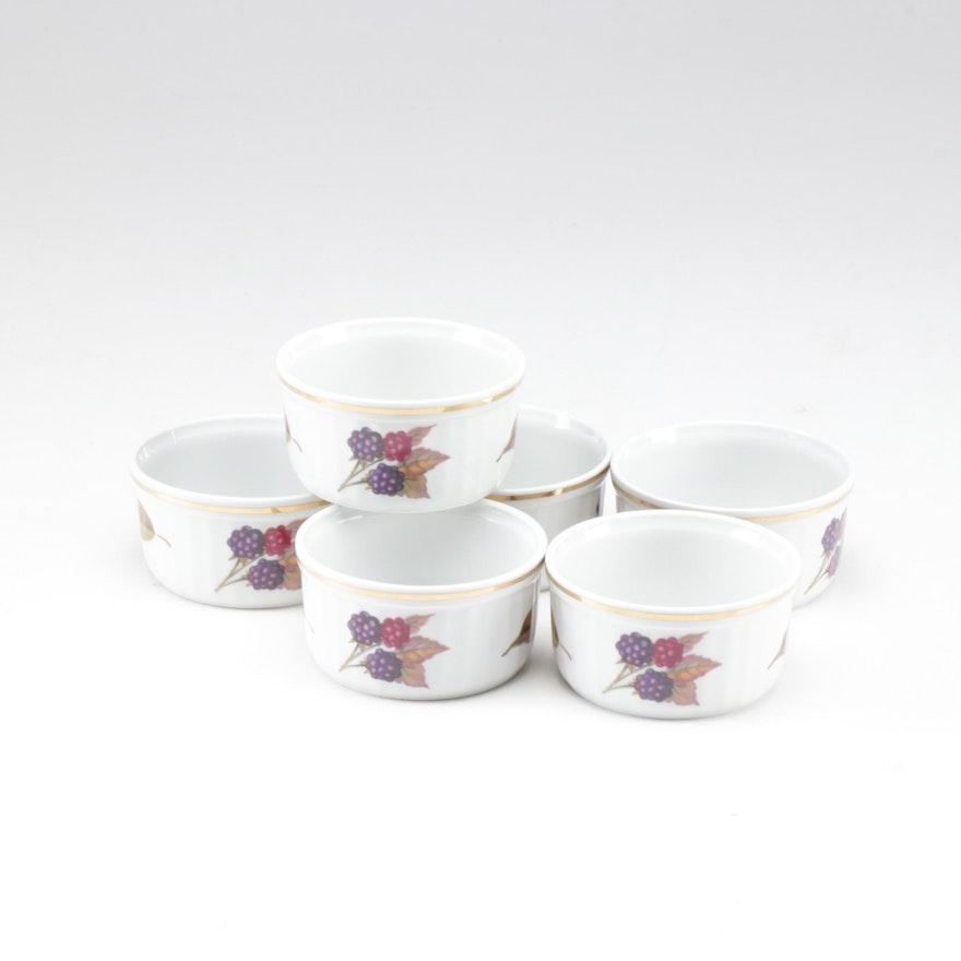 """Royal Worcester """"Evesham Gold"""" Porcelain Ramekins, Set of Six"""