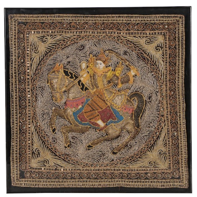 Burmese Kalaga Embroidered Textile Panel
