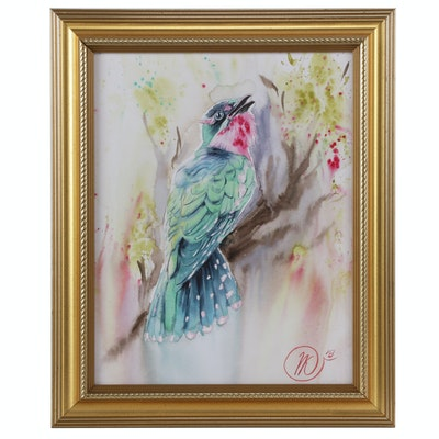 Natalia Kulikovska Bird Watercolor Painting