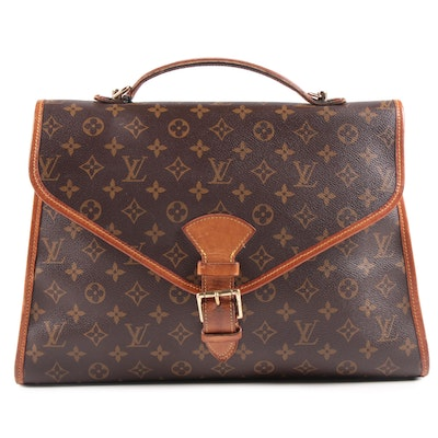 Louis Vuitton Paris Beverly Briefcase in Monogram Canvas and Vachetta Leather