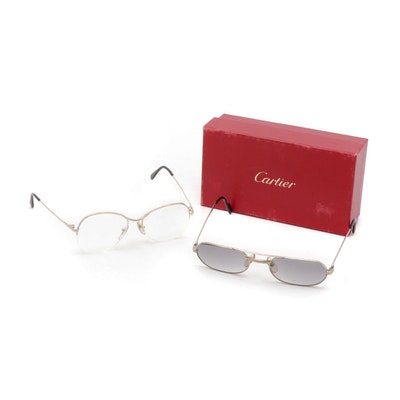 Cartier Sunglasses in Original Packaging and Galanie Sunglasses, Vintage