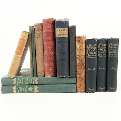 Fiction and Nonfiction Books including the Brontës, Poe, Dickens, and Hubbard