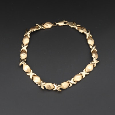 "14K Yellow Gold ""XO"" Bracelet"