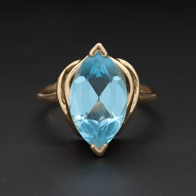 14K Yellow Gold Topaz Ring