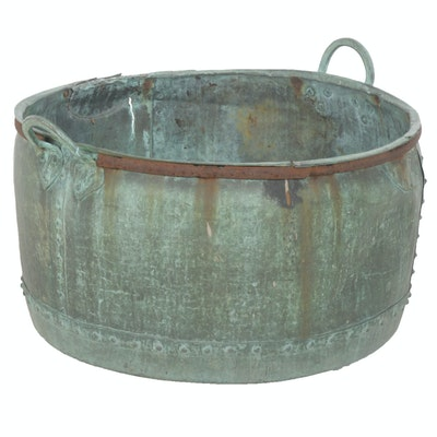 Antique Copper Riveted Tub