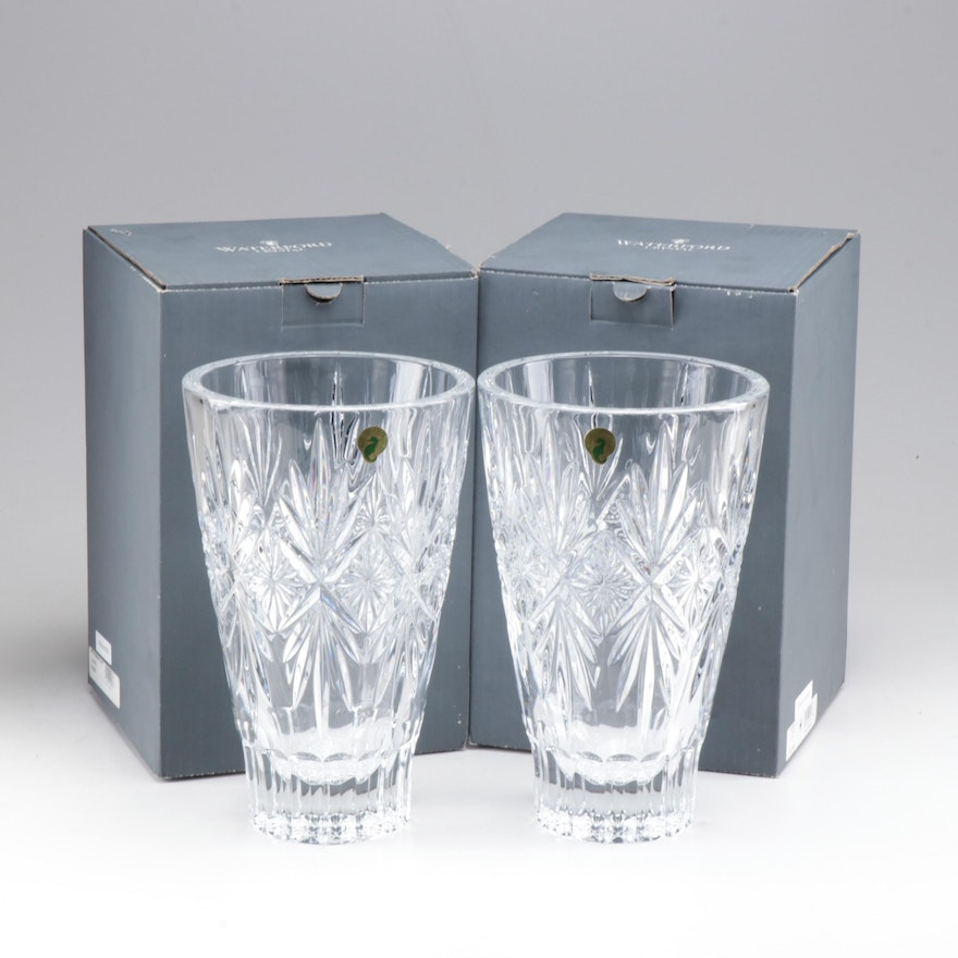 "Waterford Crystal ""Normandy"" Vases"
