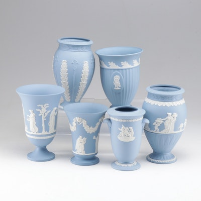 Wedgwood Jasper Ware Decorative Vases