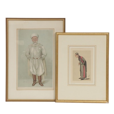 "Leslie Ward Lithographs ""The Kaid"" and ""Sir James Paget, Bart"""