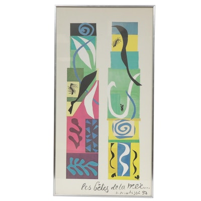 """Henri Matisse Offset Lithograph """"Beasts of the Sea"""""""