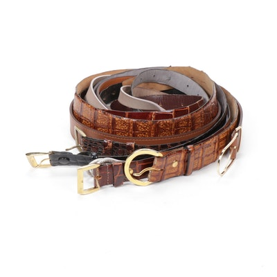 Maison Boinet, Brunello Cucinelli and Other Caiman, Alligator and Leather Belts