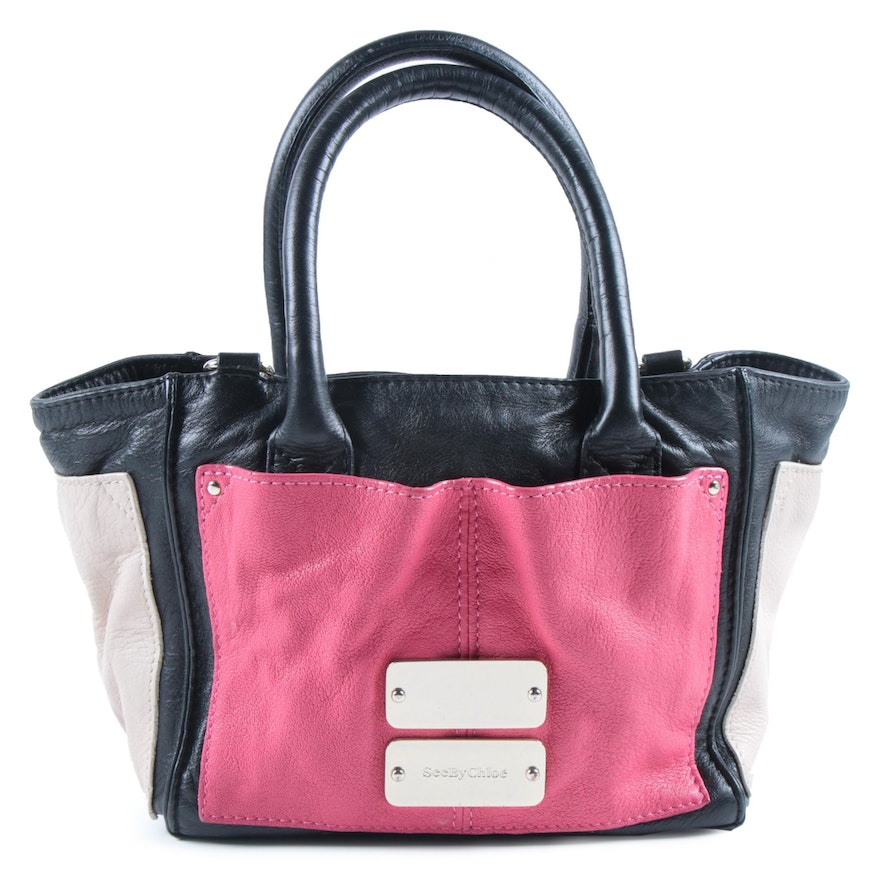 See by Chloé Nellie Handbag in Tri-Tone Colorblock Leather