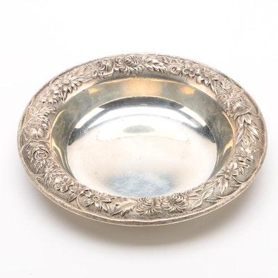 """S. Kirk & Son """"Repoussé"""" Sterling Silver Bonbon Bowl, 1924–1932"""