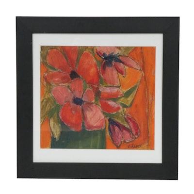 Vernon Rader Floral Still Life Oil Painting