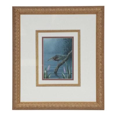 Ernest C. Simmons Marsh Bird Acrylic Painting