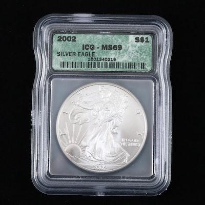 2002 ICG Graded $1 U.S. Silver Eagle