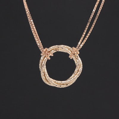 14K Yellow Gold Double Chain Necklace