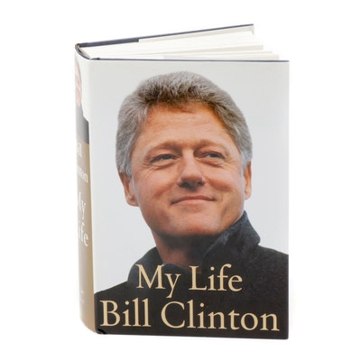Bill Clinton Signed Memoir First Edition Book